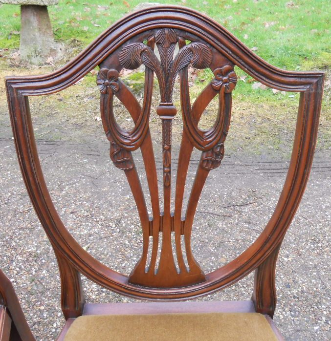 Sold Set Of Eight Mahogany Georgian Style Dining Chairs